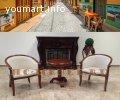 Чайная группа А-10 Китай. 2 кресла с подлокотниками и чайный столик