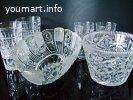 Хрустальная посуда периода СССР, вся новая.